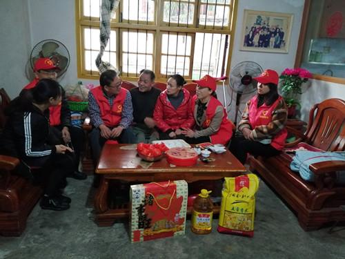 燕东街道忠义社区对残疾人家庭进行走访慰问